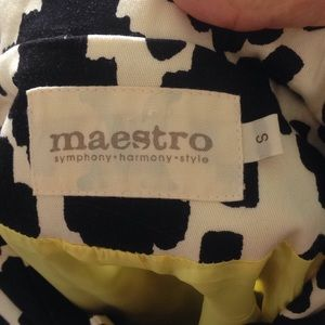 maestro Jackets & Coats - Maestro Black & White Button Vintage Crop Jacket